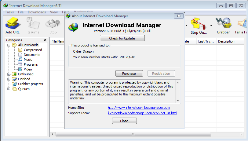 internet download manager serial number free download windows